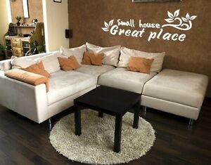 Small House, Great Place - highest quality wall decal stickers