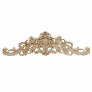 Unpainted Frame Decal Home Furniture Durable Wood Carved Onlay Applique Co