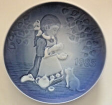 "1985 Children'S Day B & G Denmark First Edition 5"" Plate The Magic Tea Party"