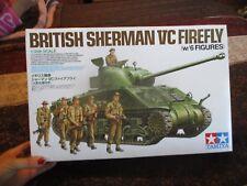 Tamiya 1/35 scale  British Army Tank Sherman VC Firefly w/ 6 Figures
