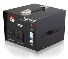 Pyle PVTC1000U Step Up & Down 1000W Voltage Converter Transformer AC 110/220V