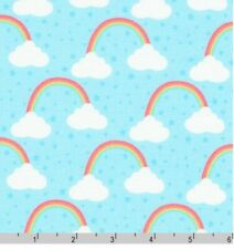 Robert Kaufman, Chasing rainbows, blue fabric by the FQ+