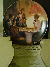 Rockwell's Light Campaign- This Is The Room That Light Made- Collector Plate-Ge