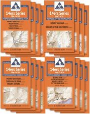 CO 14ers Series Complete Topo Map Pack: 16 Maps, All 58 14er Peaks Hiking Trails