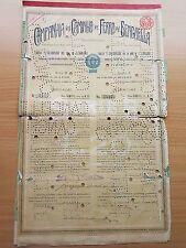 Original Benguela Railway Bond dated 1911 with Coupons #2417 Banco Ultramarino