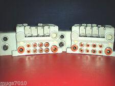 SMC EX500-Q101 Manifold and air valve solenoid Lot Of -2