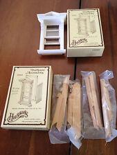 2 Dollhouse miniatures Houseworks sliding window #5002 missing parts