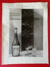 1930 Alcool CHERRY ROCHER - Photo BLANC DEMILLY au dos BOTTIN MONDAIN