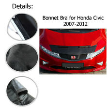 Bonnet Bra Full Black For Honda Civic MK8 2007-2012 Stoneguard Protector NEW