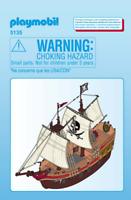 Playmobil Pirate Ship Spares 5135 Rigging Sails Masts Hull