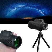 Monocular 40X60 Zoom Optical Lens Telescope Tripod Clip For Mobile Phone Camera