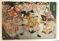 More details for original japanese woodblock print edo artist toyokuni iii utagawa 1786-1865 japa