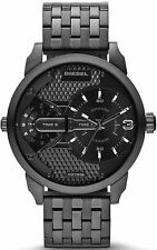 NEW DIESEL DZ7316 MENS BLACK MINI DADDY CHRONOGRAPH WATCH - 2 YEAR WARRANTY
