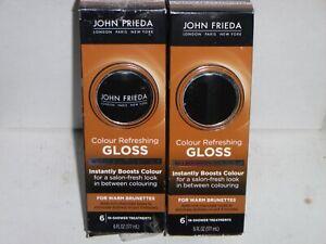 (2 pack) John Frieda Colour Refreshing Gloss For Warm Brunettes 6 In Shower