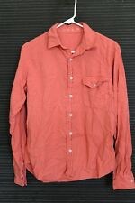 NEW Save Khaki Men's Work Shirt Small S - Salmon Pink 100% Cotton