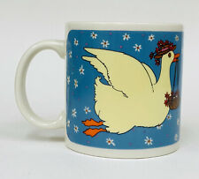 VTG 1981 Taylor & NG Gracey Goose Blue Yellow Coffee Mug Cup