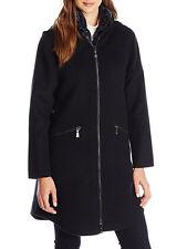 Dawn Levy Navy Wool Down Parker Coat w/ Puffer Vest M New $998