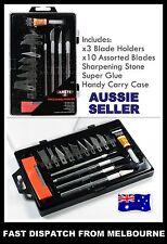 20 PCS Hobby Knife Kit Set Modelling Penknife Blades Arts Craft Knives Knifes