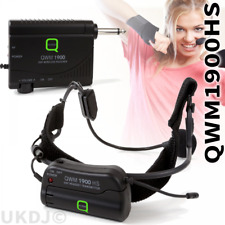 Q-Audio QWM1900HS UHF Lightweight Headset Wireless Radio Microphone System