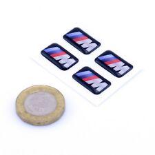 BMW M Sport Alloy Wheel Stickers Domed Gel Sticker x4 Car Decal 18mm x 11mm