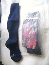 Lot de 2 paires de chaussettes foot/rugby JAKO bleu marine T 25-30 neuves emb.