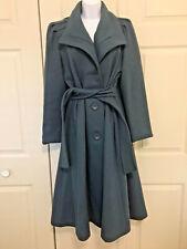Vintage Portrait Wool Dress Coat Princess Long Maxi Blue Size 6