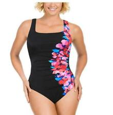 New Kirkland MIRACLESUIT Ruched Tummy Control Side Course Swimsuit Size UK 10