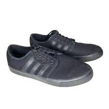 Adidas Men's Seeley (Black/Black) Canvas Skater Lace Up Sneaker Size 8 EUC