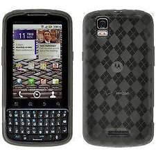 Motorola Milestone Plus Gel Case Soft TPU Skin Cover - Smoke Grey