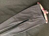 H&M Skinny women's textile pants trousers size 8 EU 36 black Jeans leggings