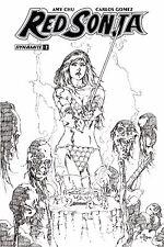 Red Sonja #7 1:30 Cover H Mel Rubi Variant Comic Book Dynamite First Print Nm