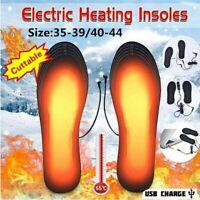 1 Paar USB Elektrisch Beheizbare Einlegesohlen Beheizte Schuheinlagen Heizsohlen