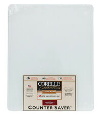 Corelle  15 in. L x 12 in. W White  Glass  Counter Saver