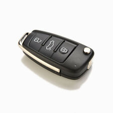 Folding Flip Remote Key Shell fit for AUDI 3 Button Case A2 A3 A4 A6 A8  bu