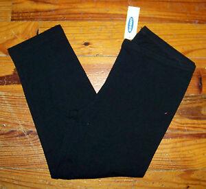 New! Girls OLD NAVY Solid Dark Black Cotton Capri Length Leggings Casual Pants 8