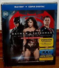 BATMAN V SUPERMAN EL AMANECER DE LA JUSTICIA DIGIBOOK 2 BLU-RAY EXTENDIDA NUEVO