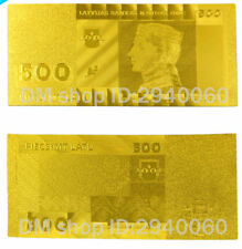 "★★ LETTONIE / LATVIA : BILLET POLYMER  "" OR "" DU 500 LATU ★★"