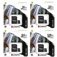 Kingston 16GB 32GB 64GB 128GB Micro SD Class10 Tarjeta de Memoria 100MB/s +Adap
