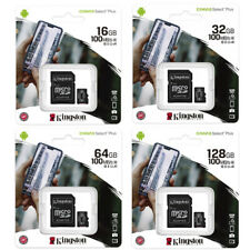 Kingston 16GB 32GB 64GB 128GB Micro SD Class10 Tarjeta de Memoria 100MB/s +Adap