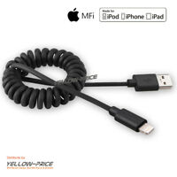 AppleMFI Coiled Lighting Charging Power Wire Data Sync Cord Cable for Phone 8