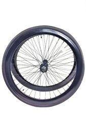 700c Wheelset - 43mm RIMS+TIRES+TUBES+16T Freewheel+COG Single Speed-Gloss Black