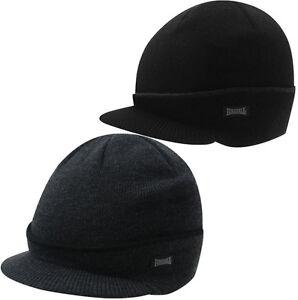 Lonsdale Peak Winter Hat Black Gray Beanie Hat Winter New