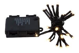 24 LED Lichterkette mit Timer Batteriebetrieben für Innen Außen Garten warmweiß
