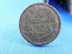 CHILE   10 CENTAVOS 1901  Silver   [A17/184]