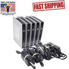 Lot of 5 HP T5730W Thin Client 1GHz 2GB/1GB F/R WES NV267AA w/ A/C Adapter