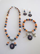 Houston Astros Jewelry - Charm Necklace, Bracelet, And Earrings