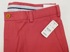 NWT $108 BROOKS BROTHERS 36x30 Men's Flat Front Soft Red CLARK Chino Pant