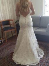 Custom Made Sheath Wedding Dress Size 8
