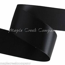 """3yd of Black 1/4"""" Double Face Satin Ribbon 1/4"""" x 3 yards neatly wound"""