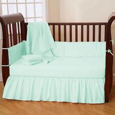 Nursery Bedding Baby Crib/Mini crib Dust Ruffle Skirt Solid 23 Color
